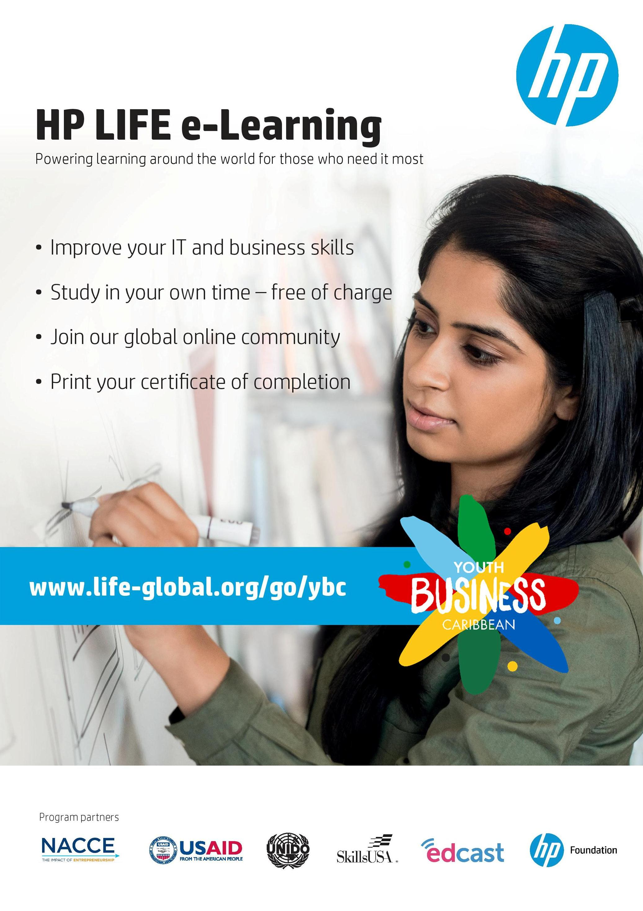 HP LIFE E-Learning with YBC